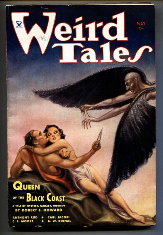 Weird Tales 5/1934-pulp fiction-1st CONAN cover-Brundage