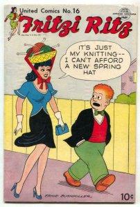 United Comics #16 1951-Fritzi Ritz-Ernie Bushmiller- FN