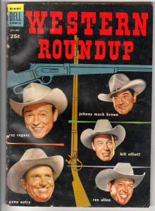 Dell Giant Western Roundup #8 (Oct-54) VG/FN Affordable-Grade Roy Rogers, Dal...