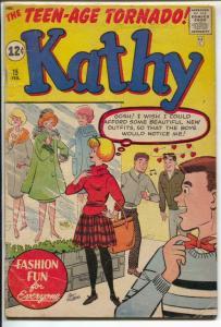 Kathy #15 1962-Marvel-Teenage Tornado-fashion-paper dolls-Stan Lee-VG