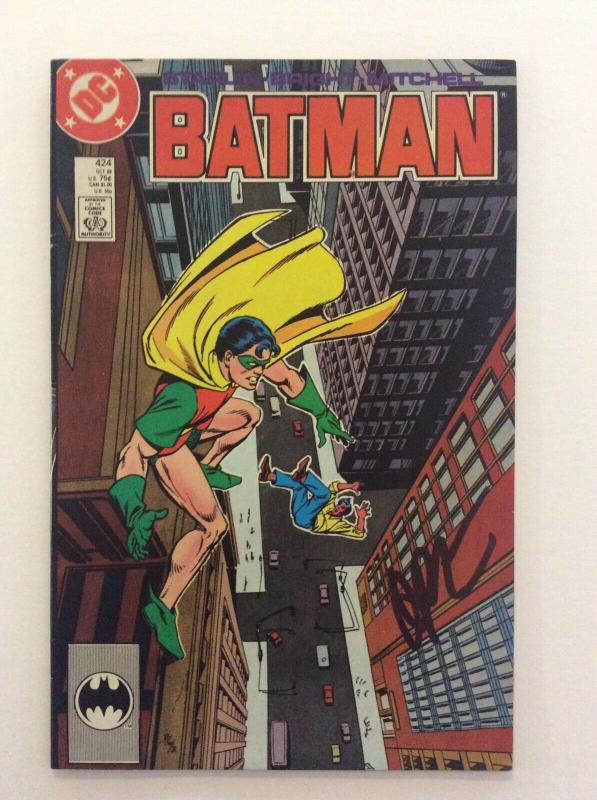 BATMAN #424 - 2nd Printing- Signed by Writer Jim Starlin