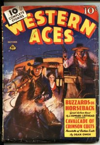 WESTERN ACES--OCT 1938-REGARDS TO THE HANGMAN--RICHARD CASE COVER ART--PULP