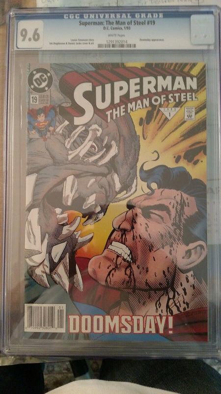 Superman: The Man of Steel #19 (Jan 1993, DC) CGC 9.6