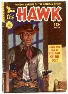 The Hawk #1 1951- Painted cover- Golden Age Western VG-