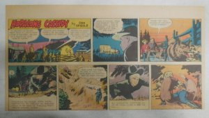 Hopalong Cassidy Sunday Page by Dan Spiegle from 6/1/1952 Size 7.5 x 15 inches