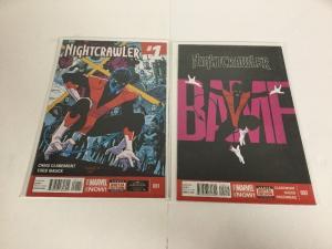 Nightcrawler 1 2 Lot Set Run Nm Near Mint Marvel Now