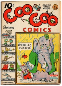 Coo Coo Comics #8 (1943) Pines ★ 6.0 FN! ★ Supermouse by Milton Stein!