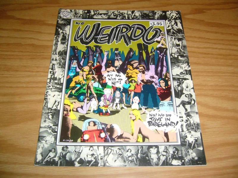 Weirdo #6 VF (2nd) print - robert crumb - jeff john of spumco? - aline kominsky