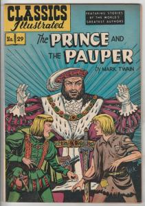 Classic Comics #29 (Jun-49) FN/VF+ High-Grade The Prince, the Pauper