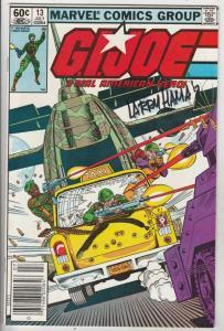 G.I. Joe signed #13 (Jul-83) NM- High-Grade G.I. Joe
