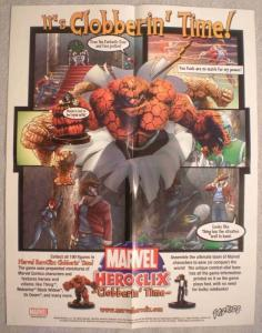 HERO CLIX Promo poster, 17 x 22, 2002, Unused, more in our store