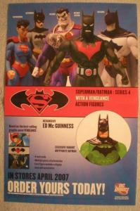 SUPERMAN BATMAN Promo Poster, 11x17, 2007, Unused, more Promos in store