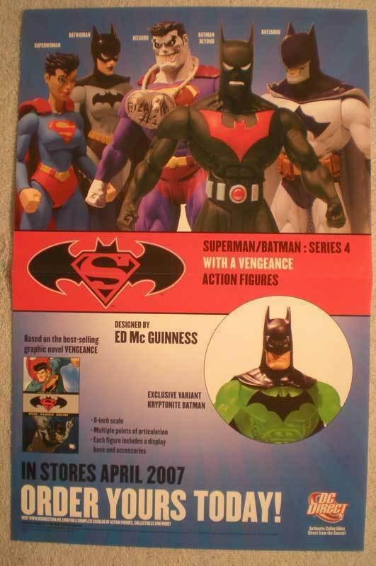 SUPERMAN BATMAN Promo Poster, 11x17, 2007, Unused, more Promos in store