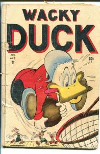 WACKY DUCK #1 1946-TIMELY-1ST ISSUE-BIZARRE-SLAPSTICK-NOT IN PRICE GUIDE-fr/g