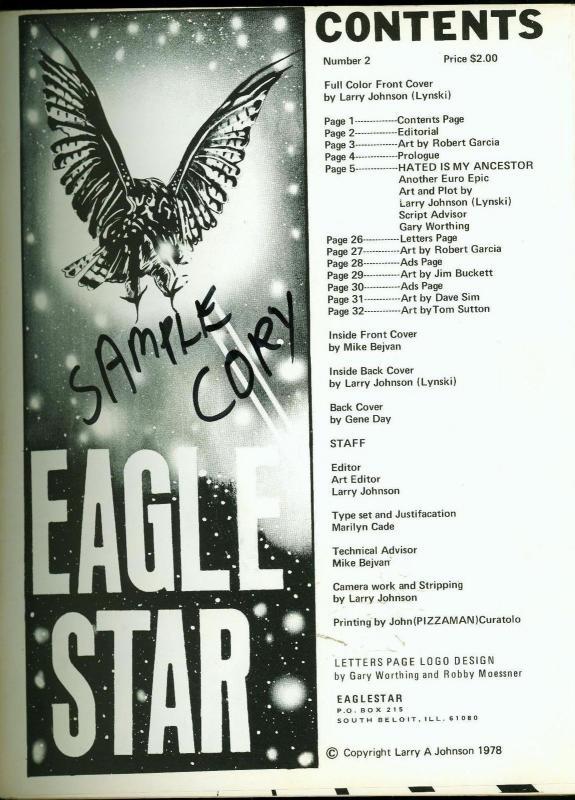Eaglestar #2 1978- Dummy/Sample copy- Tom Sutton- Dave Sim