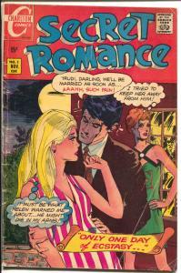 Secret Romance #3 1969-Charlton-love triangle cover & story-G/VG