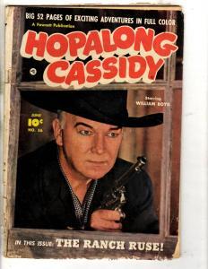 Hopalong Cassidy # 56 GD/VG Fawcett Comic Book Photo Cover Cowboy Western J314