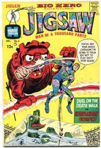 JIGSAW #2-HARVEY SUPER-HERO COMIC VG-