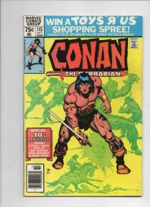 CONAN the BARBARIAN #114 115 116 VF  Buscema, Chan, Howard, 1970 1980, Neal Adam