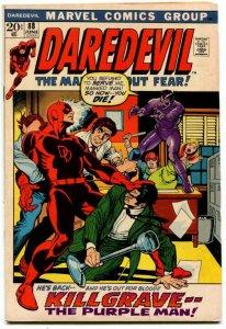 Daredevil #88 (6.0-6.5) 1972 The Purple Man! Classic Bronze Age Marvel ID00