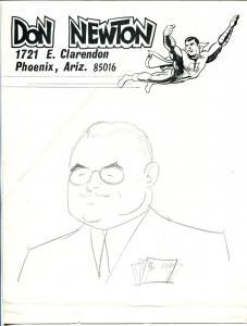 Don Newton Original Pencil Art-Sterling Morris-1973-