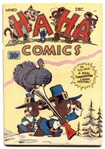 Ha Ha Comics #60 1948- Thanksgiving cover- Funny Animals VG+