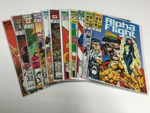 Alpha Flight 101 105 107 108 109 110 111 112 113 114 120 Nm Near Mint Marvel