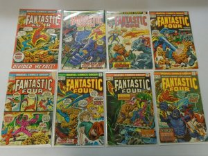 Fantastic Four lot 24 diff. 20c+25c covers from #128-173 avg 5.0 VG FN (1972-76)