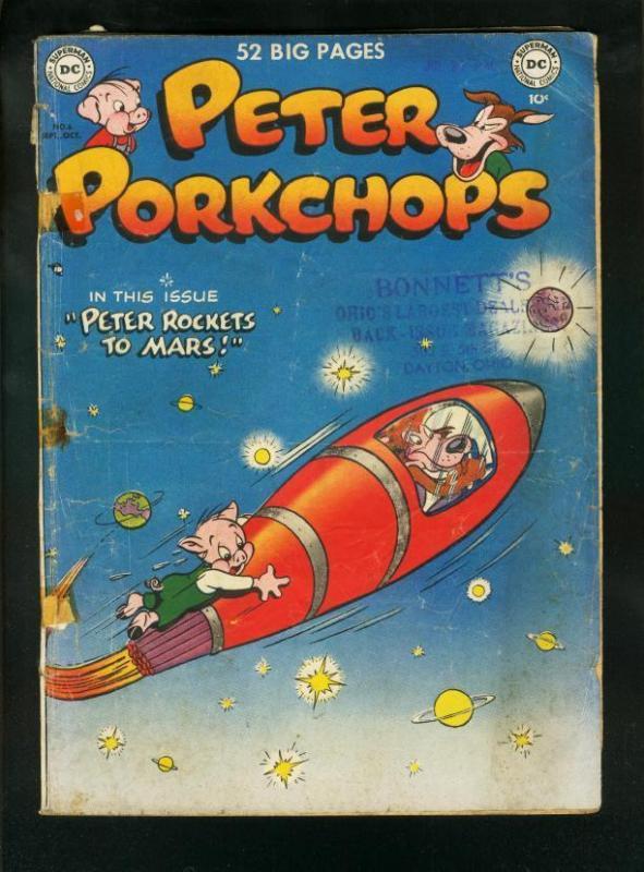 PETER PORKCHOPS #6 1950-DC COMICS-ROCKET COVER FR