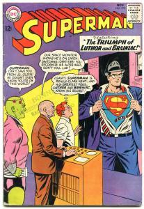SUPERMAN #173 1964-DC COMICS-LUTHOR-BRAINIAC-TEAM UP vg