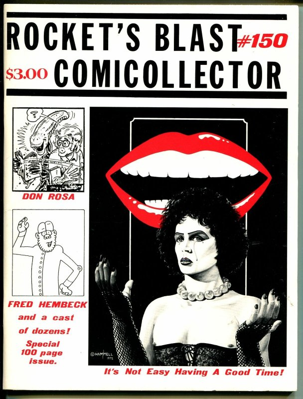 Rocket Blast Comicollector #150 1979-Don Rosa-Rocky Horror-Steve Bissette-VF/NM