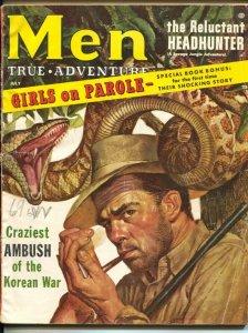 Men 7/1956-Atlas-Rafael de Soto-Mort Kunstler-cheesecake-Diane Weber-G