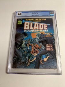 Marvel Preview 3 Cgc 9.4 Ow/White Pgs Marvel Early Blade Appearance Bronze Age