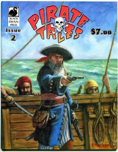 PIRATE TALES #2 , VF, Weapons, Swords, Skull & Bones, Maroon, Richard Becker