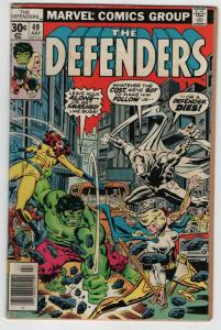 The Defenders #49 VG condition Hulk vs his Fellow Defenders!
