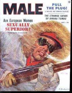 MALE 1953 NOV-RAPHAEL DESOTO COVER-PULP VG/FN