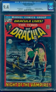 Tomb of Dracula #1 1972 1st Dracula! Neal Adams Cover! CGC 9.4 WHITE Pages!