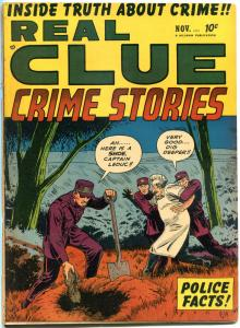 REAL CLUE CRIME STORIES V6 #9, VG-, 1951, Golden Age, Pre-code, more in store