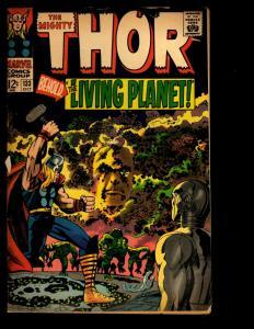 Mighty Thor # 133 VG Marvel Comic Book Ego Odin Loki Asgard Ulik Avengers NE3