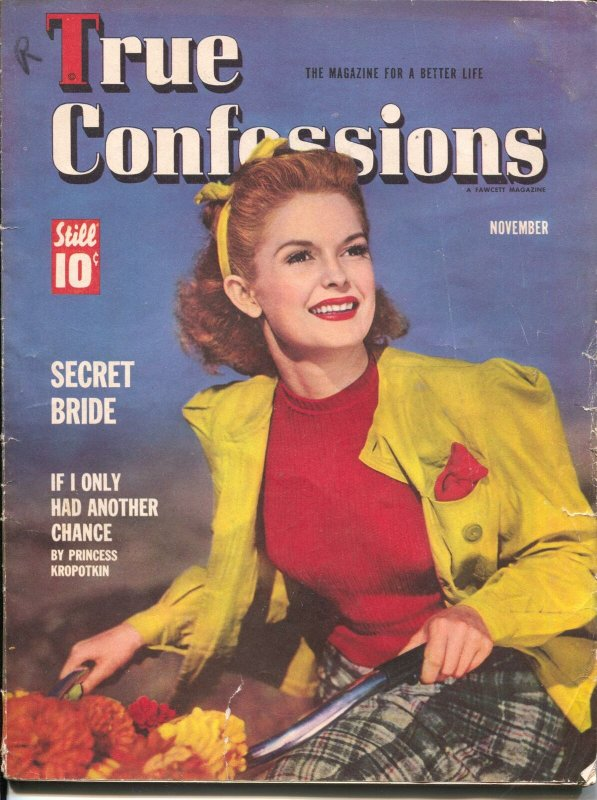 True Confessions 11/1936-Vargas pin-up girl ad--exploitation-crime-VG