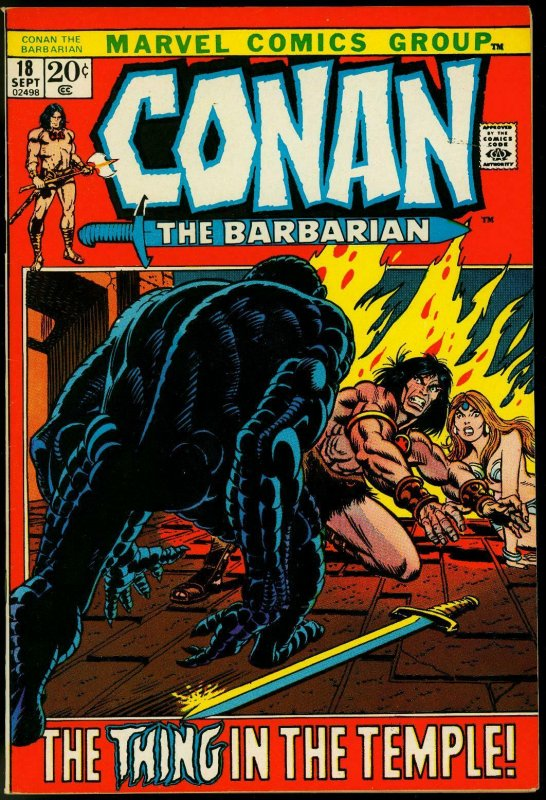 CONAN THE BARBARIAN #18-GIL KANE-ROBERT E HOWARD VF