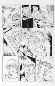 DEAN KOTZ Original Published Art, TRAILER PARK of TERROR #7 page 2, Zombie