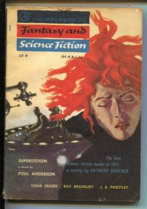 Magazine of Fantasy & Science Fiction 3/1956-Mercury-Nicholas Solovioff cover...