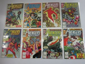 Avengers West Coast lot 50 different from #48-102 + Annuals 6.0 FN (1989-94)