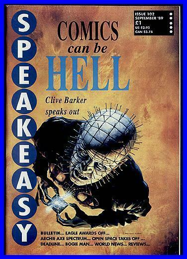 SPEAKEASY 102 Clive Barker Speaks Out, gRANT mORRISON
