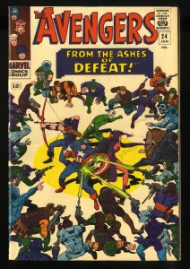 Avengers #24 FN 6.0 White Pages