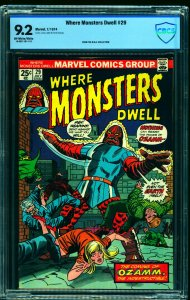 Where Monsters Dwell #29 CBCS NM- 9.2 Off White to White