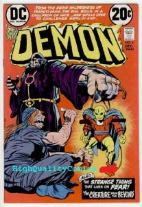 DEMON #4, VF+ to NM, Jack Kirby, 1972, Transylvania,Merlin,Fear,more JK in store