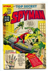 Spyman #1 1966-Harvey-1st issue-origin-1st Steranko comic book art-Tuska-VG