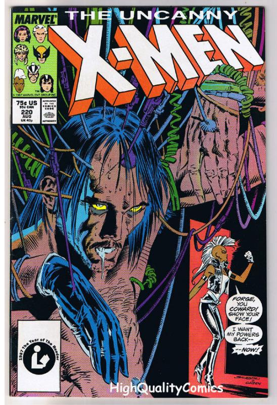 X-MEN #220, VF, Rogue,Chris Claremont, Silvestri, Uncanny, more in store